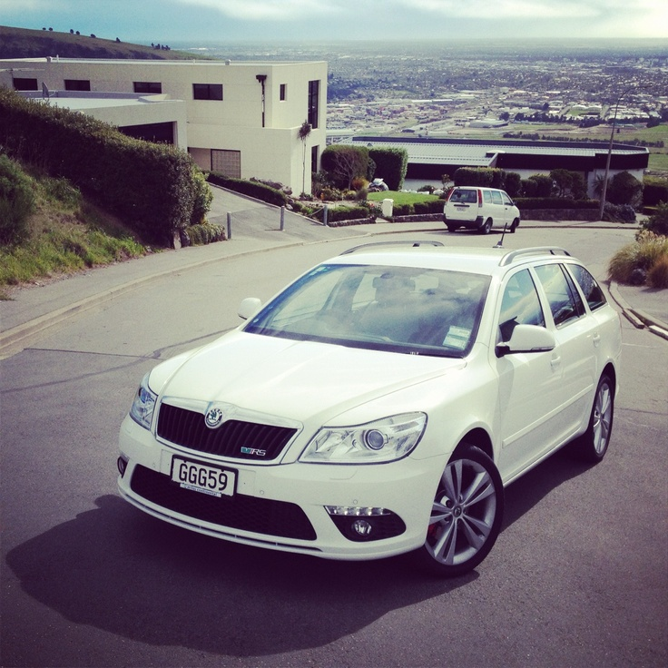 ŠKODA Octavia vRS on the hills above Christchurch #skoda #cars