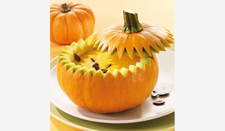 Butternut squash soup recipe, I love the idea of serving it from the pumpkin!