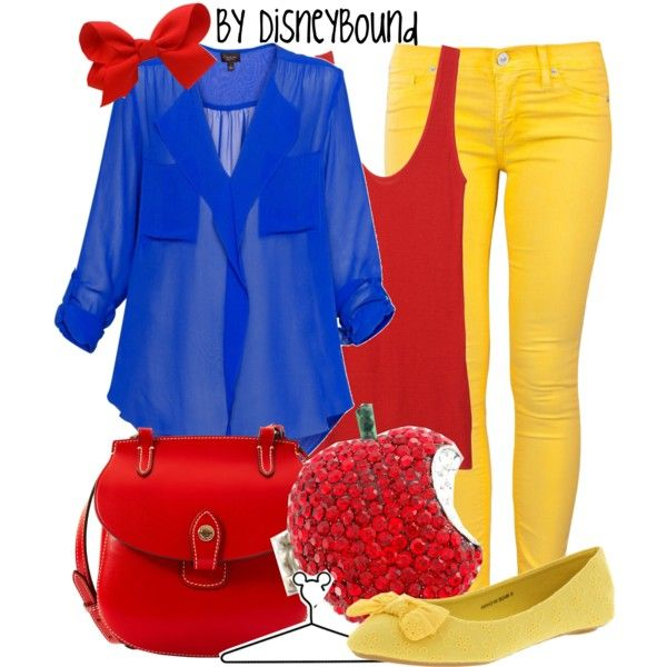 Disney Bound - Snow White (Found on Disney Bound Polyvore)