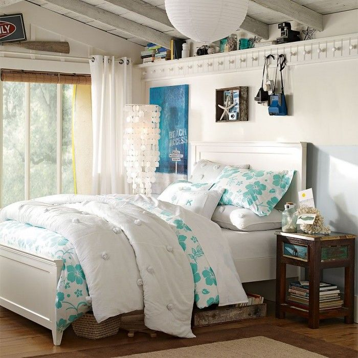 Marvelous Teen Beach Bedroom Ideas Part - 10: Bedroom,Vintage Tween Girls Bedroom Design Ideas With Rustic Wood Roof And  Wooden Flooring Featuring White Lantern And White Window Curtain,Gorgeous  Tween ...