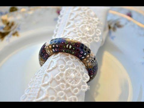 Napkin rings from polymer clay-Кольца для салфеток из полимерной глины - YouTube