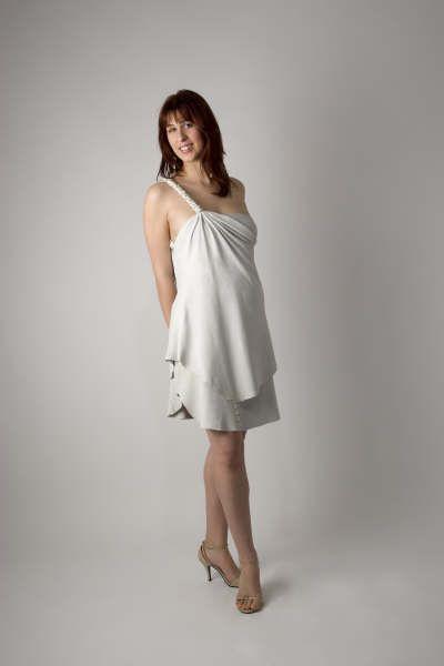 Chamois drape short wedding dress http://www.arcarocouture.com.au