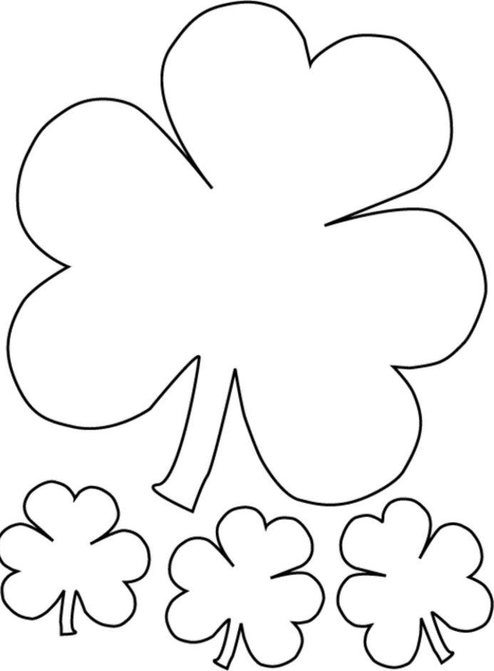 4 Leaf Clover Coloring Pages Novocom Top