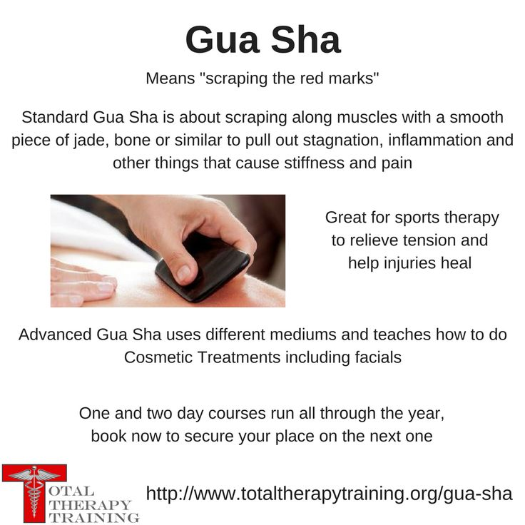Our Gua Sha courses are over 1 or 2 days depending on your
