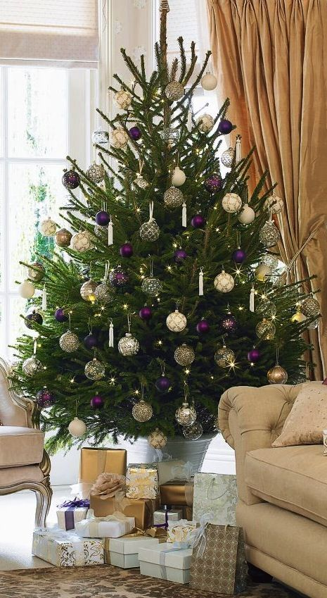 Unique Purple Christmas Ideas On Pinterest Purple Christmas - Decorating dining room christmas white silver christmas palette