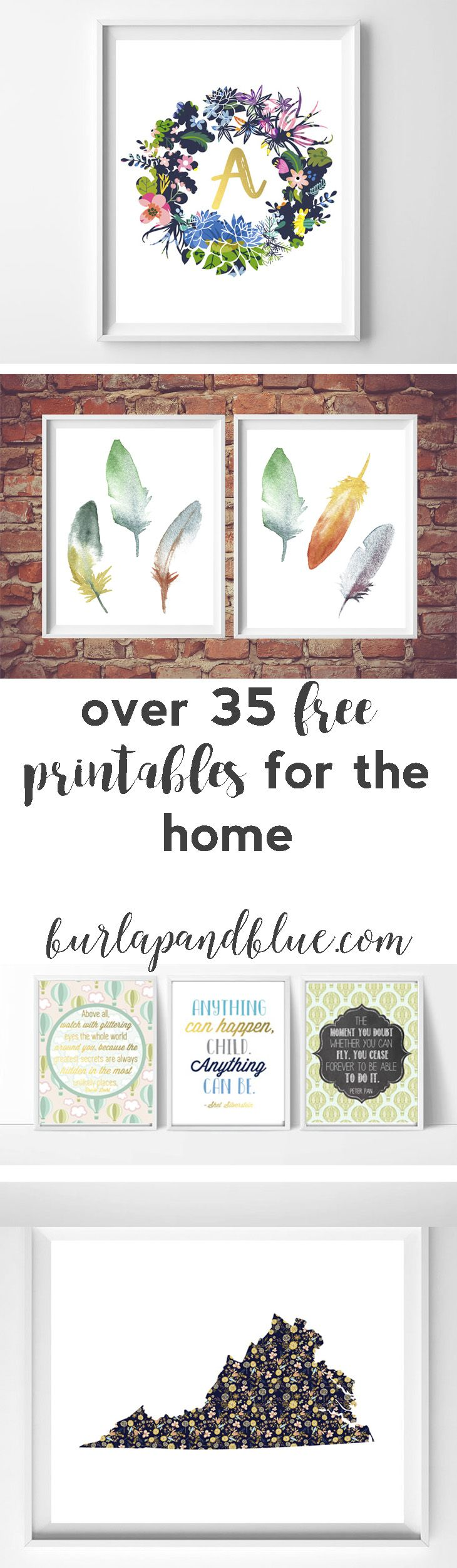 Attractive Printable Home Decor Part - 4: Free Printables For The Home {over 50 Printable Favorites!}