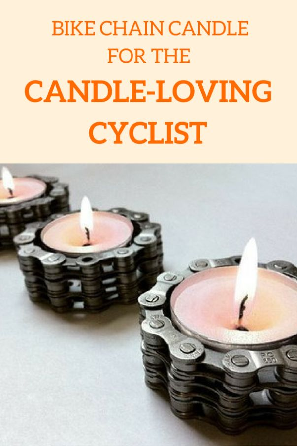 Bike chain tea light candle holder for the candle-loving cyclist in your life! Fun gift for cyclists :)