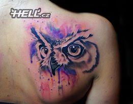 Owl tattoo Tattoo by Lukáš @ Hell.cz www.hell.cz
