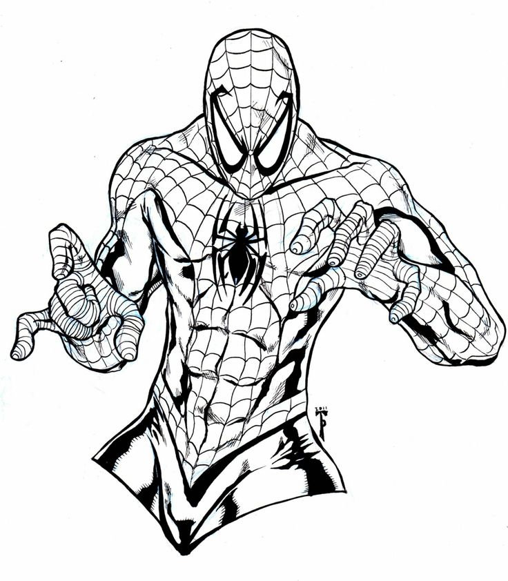 amazing spiderman coloring pages 18