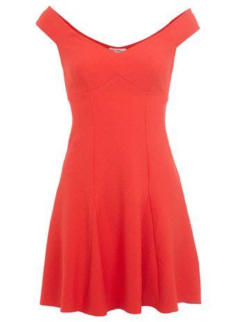 Red Bardot Dress - View All - Dress Shop