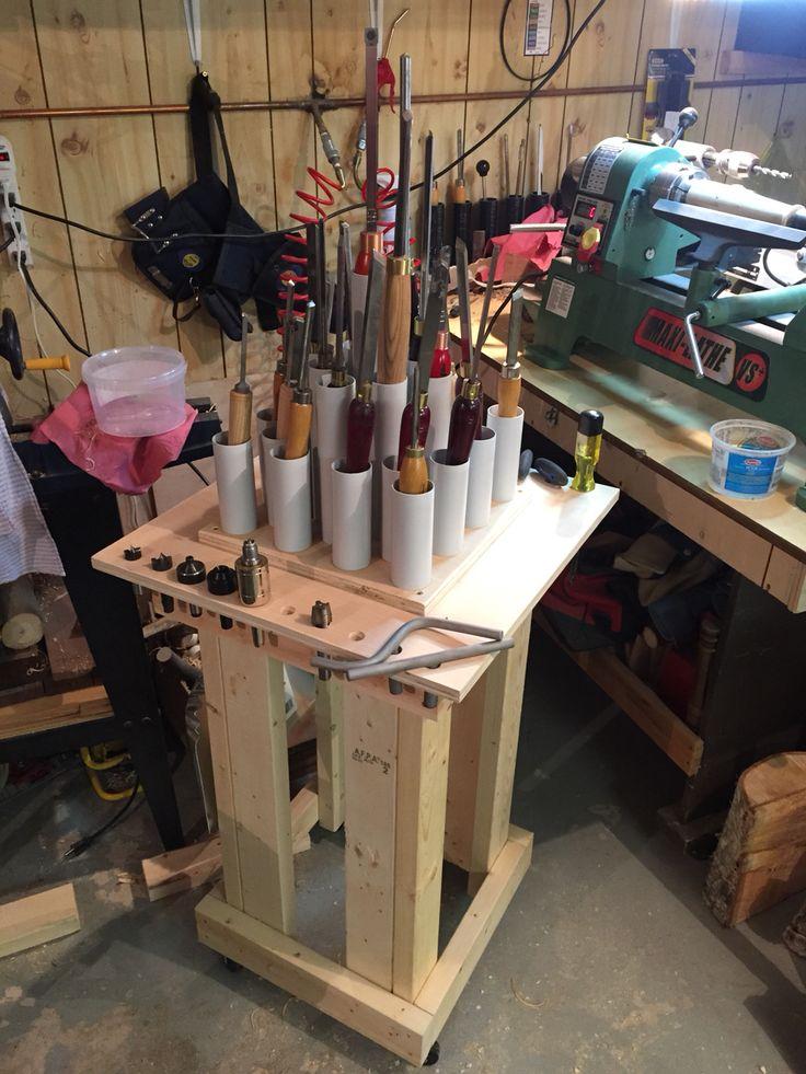 Lathe Tooling Storage Wood Turning Pinterest Lathe Woodturning And Wood Turning