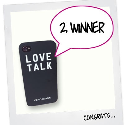 "2. WINNER IS FOUND! Congratulations to Claudi Fischer, you are the second to win an exclusive iPhone cover. The contest continues - We still need 3 more winners. To enter the contest 1) Login to PINTEREST and follow veromodafashion and 2) re-pin the official contest pin; ""RE-PIN TO WIN""  Good luck everyone!"
