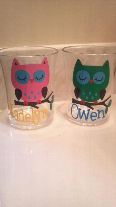 Owl Tumbler Glasses perfect for Bathroom on Etsy, $8.00