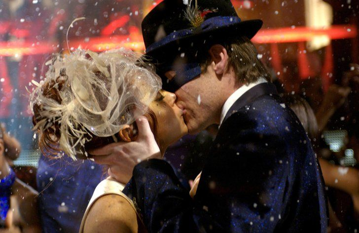 Pin for Later: The Best Movie Kisses of All Time Just My Luck Ashley (Lindsay Lohan) and Jake (Chris Pine) share a magical, luck-swapping kiss at a masquerade party.