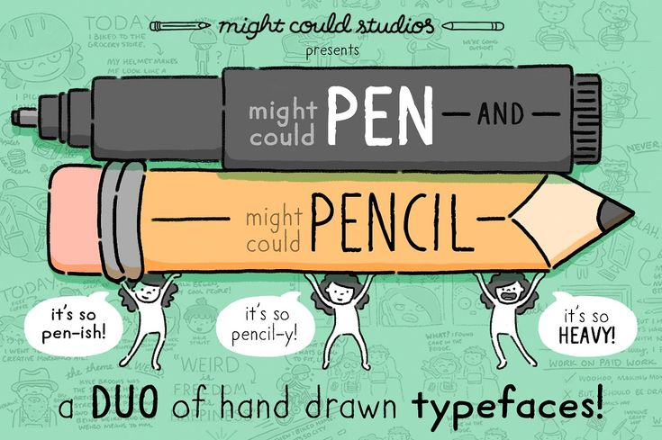 Might Could Pen + Pencil Font Duo by Might Could Studios on @creativemarket
