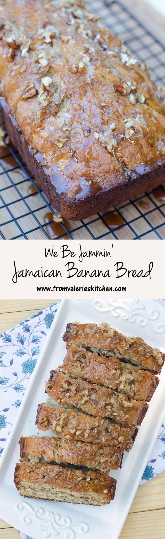 Banana bread with an island twist! The sticky-sweet glaze is AMAZING! ~ http://www.fromvalerieskitchen.com/wordpress