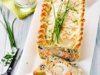 Tourte façon koulibiac de saumon