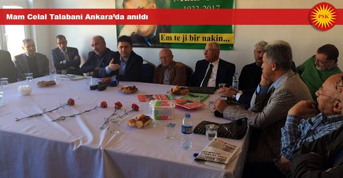 Mam Celal Talabani Ankara'da anıldı