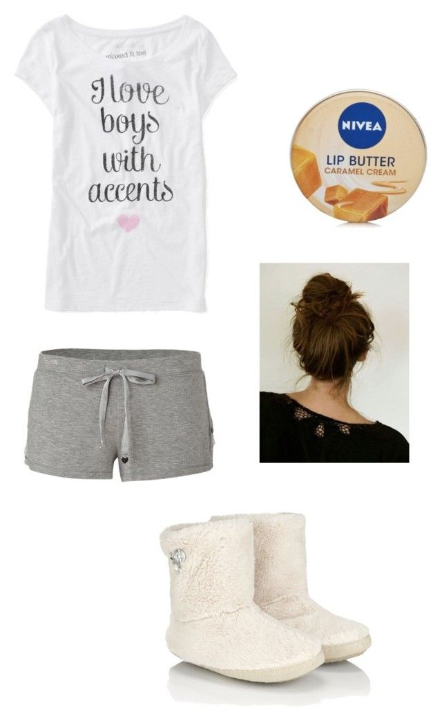 """""""Pijama #2"""" by ana-karen-aguilar ❤ liked on Polyvore featuring Juicy Couture, Aéropostale, Accessorize and Nivea"""