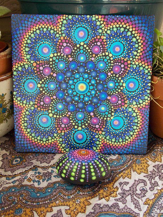 ESTABLECER pintura de Mandala y emparejar Mandala piedra