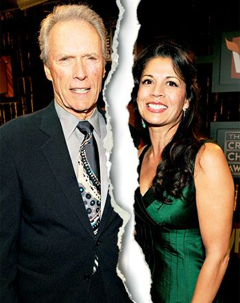 Clint Eastwood, Wife Dina Eastwood Separate After Nearly 17 Years of Marriage. She entered rehab in April 2013 for depression. In Aug. she filed for divorce, after living apart from Clint for some time. They met in '92 while she was interviewing him as a reporter and news anchor. Married in 1996 and had a daughter, Morgan that year.