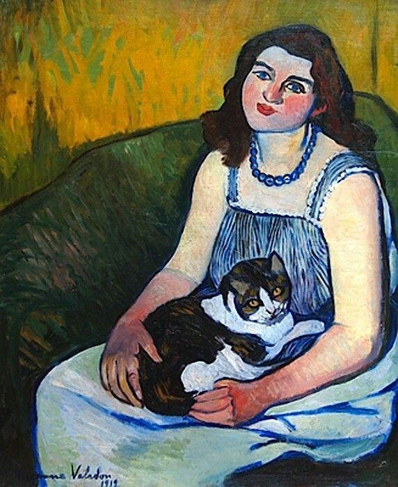 Suzanne ValadonFrench, 1865-1938 Jeune Fille au Chat