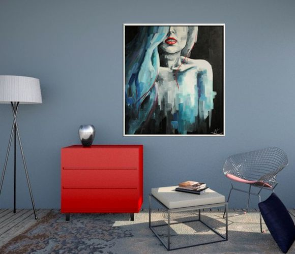 """Oil painting """"Grey"""""""