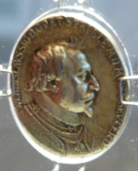 Part of the Art Collection of Prince Władysław IV Vasa (9 Jun 1595-20 May 1648) Poland. Commemorative silver medal of Prince Władysław Vasa by Alessandro Abbondio in 1624.