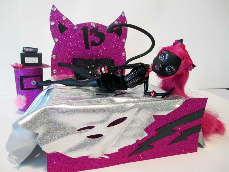 How To Make A Catty Noir Doll Bed Tutorial Monster High Playlist