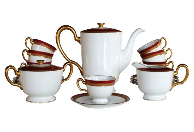 Okura Art  Tea Set, 17 Pcs