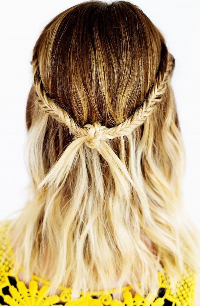 Great for a variety of hair lengths, this simple style looks great with a traditional braid or fishtail braid. Add some sea salt spray to your natural waves and you have the ultimate summer look....