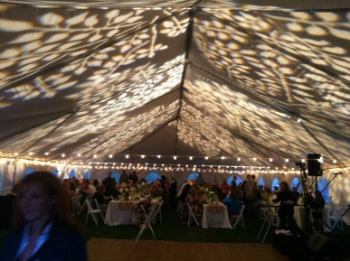 Decorative Gobo Imaging On The Ceiling Of This Tented