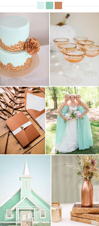 Mint & Copper wedding ideas | via Originální Svatba