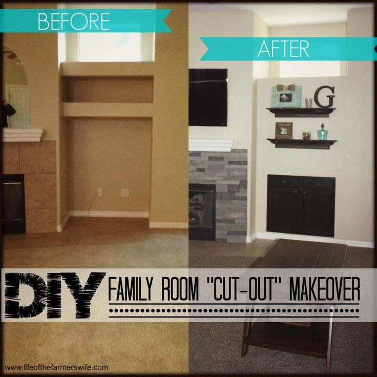 DIY Family Room Cut Out MaKeover