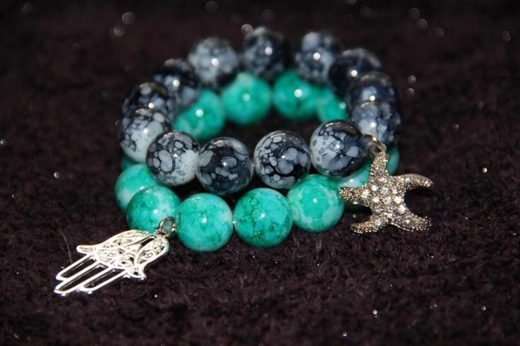 Must have! Bransoletki handmade #bracelet #bransoletki #bizuteria # bracelets #musthave #hamsa #hamsahand #acessories #armparty #armcandy #armband #akcesoria #cyrkonie #charms #rozgwiazda #koraliki #jewelery #sparkle #blink #fashion #handmade #bracelet by SIS