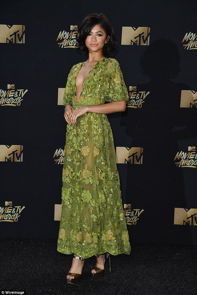 Goddess: Zendaya showed off her impressive sartorial style as she graced the red carpet for the MTV Movie & TV Awards on Sunday evening