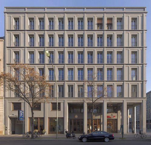 Hans Kollhoff, Housing and Commercial Building, Berlin, 2001