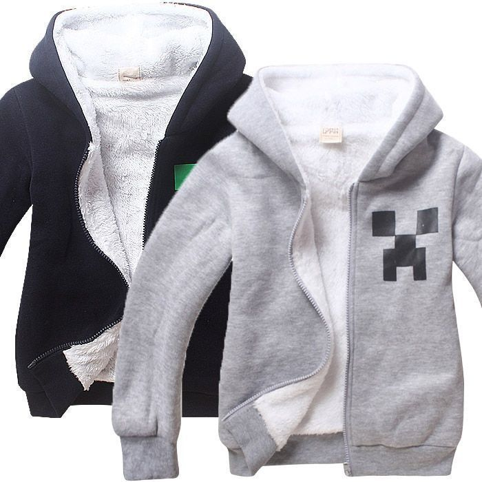 Jacket Kids Hoodie Zip Coat Hip Hop 3d Roblox Autumn Winter Warm