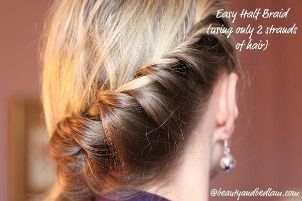 2 strand braid for shorter hair... Will try on my niece.