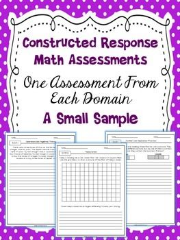 FREE Help increase higher order thinking and prepare your students for the constructed response portion of state tests with these constructed response assessments.
