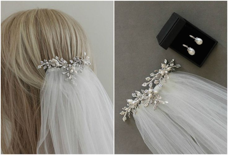 Wedding Veils and Headpieces   How to create the layered look - OPHELIA comb WYNTER veil