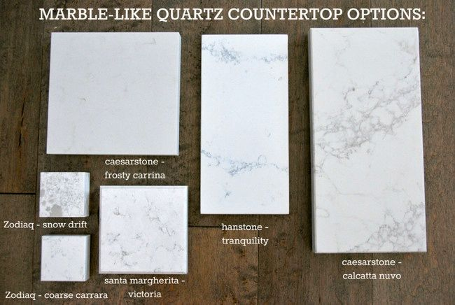 Kitchen Quartz counter options that resemble marble