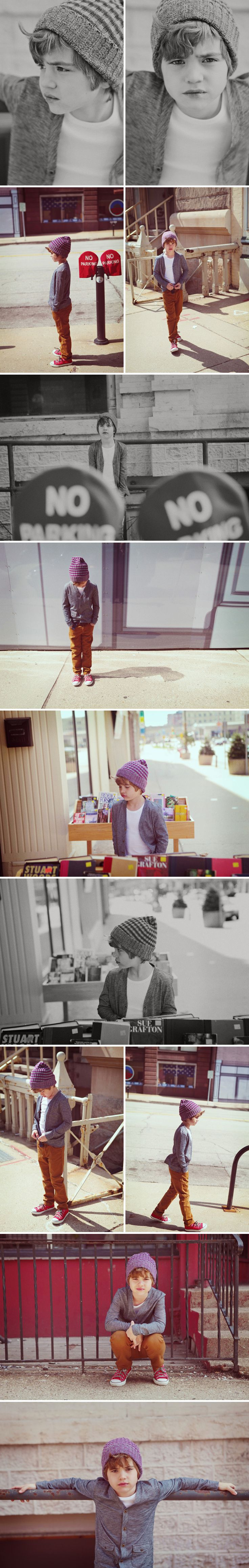 Cute photo series! Love his outfit :)