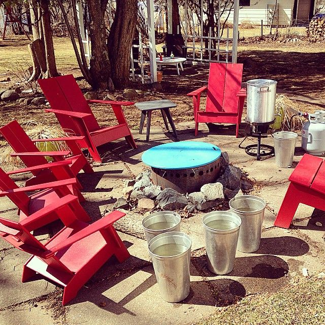 A Lollygaggeru0027s Maple Sugaring Setup In Duluth, MN. All Modern Outdoor  Furniture Is From Loll Designs, Made In The USA From Recycled Plastic Milk  Jugs. Part 72