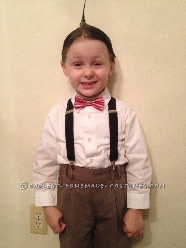 Adorable Alfalfa Child Homemade Halloween Costume
