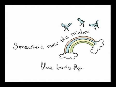 Israel Kamakawiwoʻole singing Somewhere Over The Rainbow.  This song makes my heart smile.