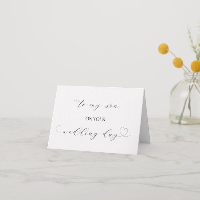 Simple and Elegant To My Groom Card