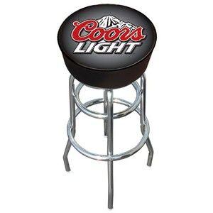 Trademark Coors Light logo padded bar stool