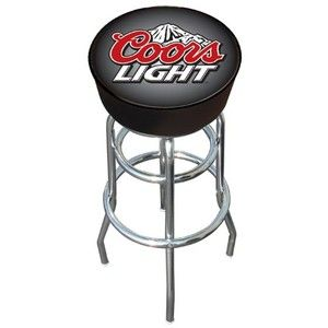 Trademark Coors Light logo padded bar stool