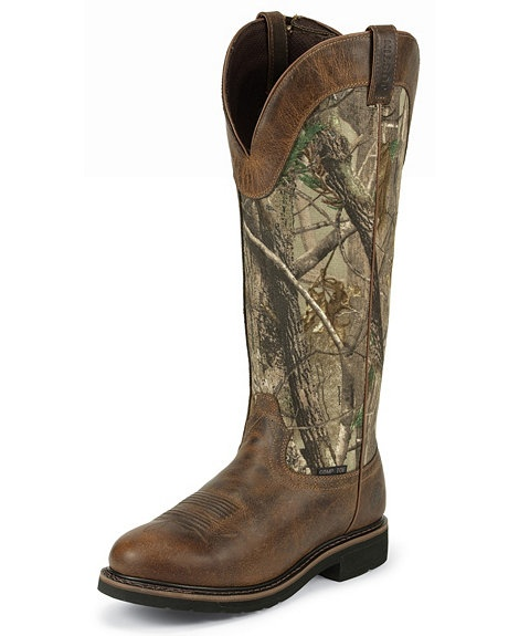 Justin Stampede Waterproof Camo Snake Boots Composite